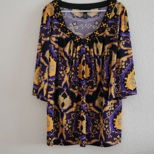 INCLUDING Halloween color slinky blouse